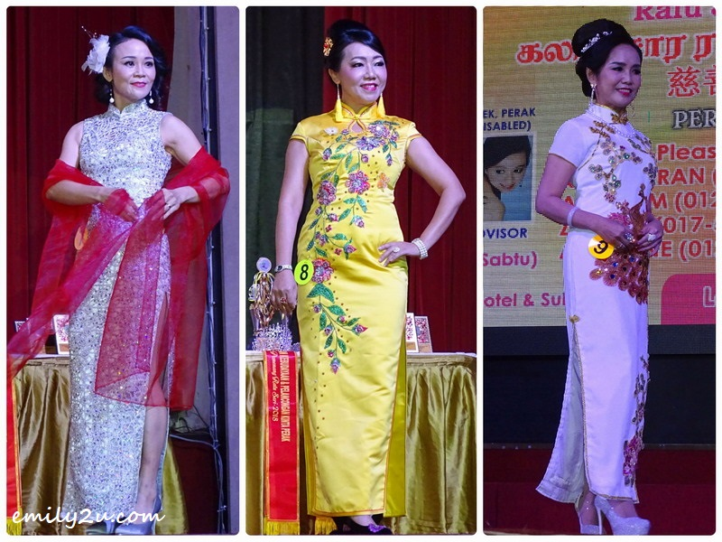 11. cheong sam contestants (L-R): Sandy Lee, Chong Boon Geok & Annie Wong