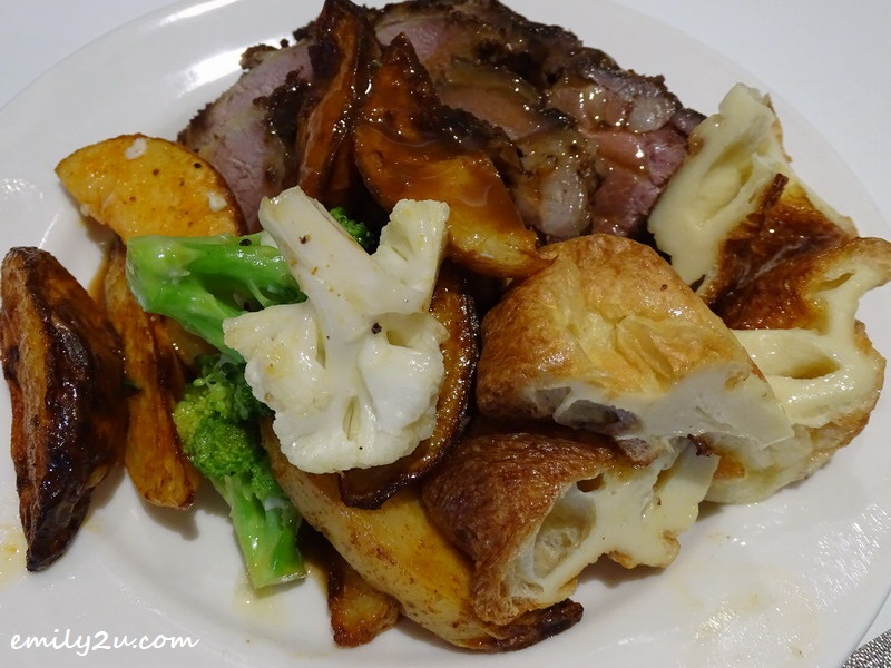 2. roasted lamb - a main course of Weekend Roast Buffet Lunch