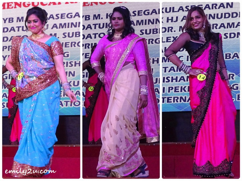 13. saree contestants L-R): Susan Dason, Mani Megalai & Santha Ramaletchumanan
