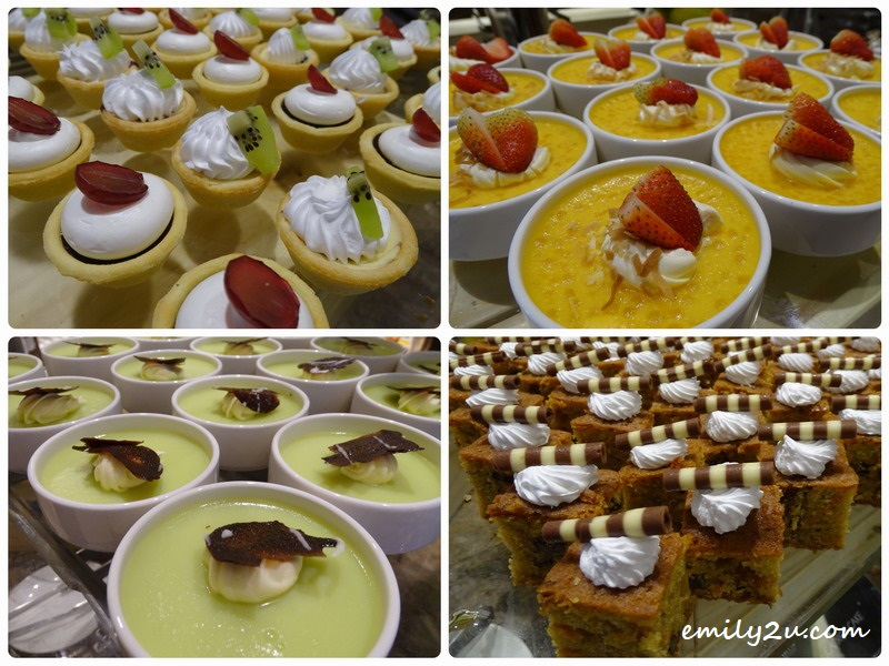 18. a variety of desserts