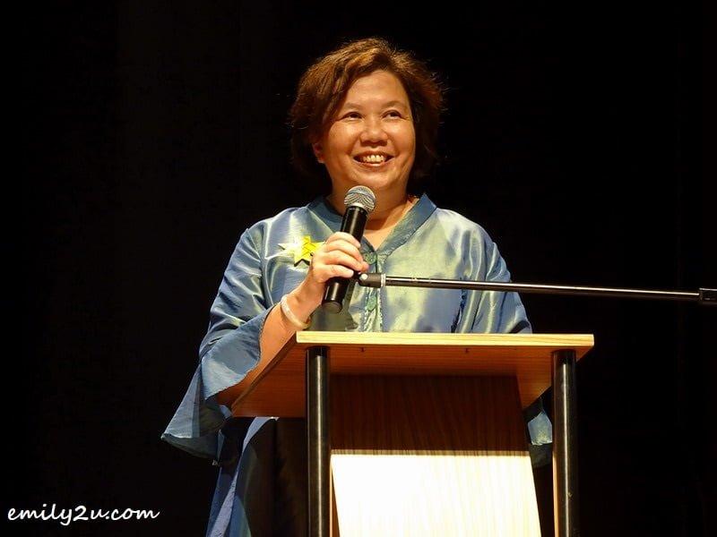 2. Perak Society of Performance Arts (PSPA) president, Datin Rosalina Ooi-Thong in her opening speech