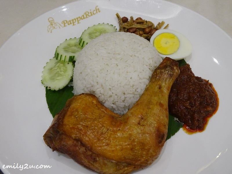 3. Nasi Lemak with Fried Chicken