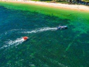 sofa boat activity at Pulau Papan