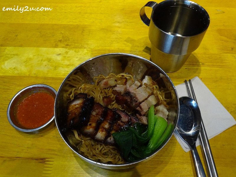 10. Dark Soy Sauce Noodles with BBQ pork and roast pork