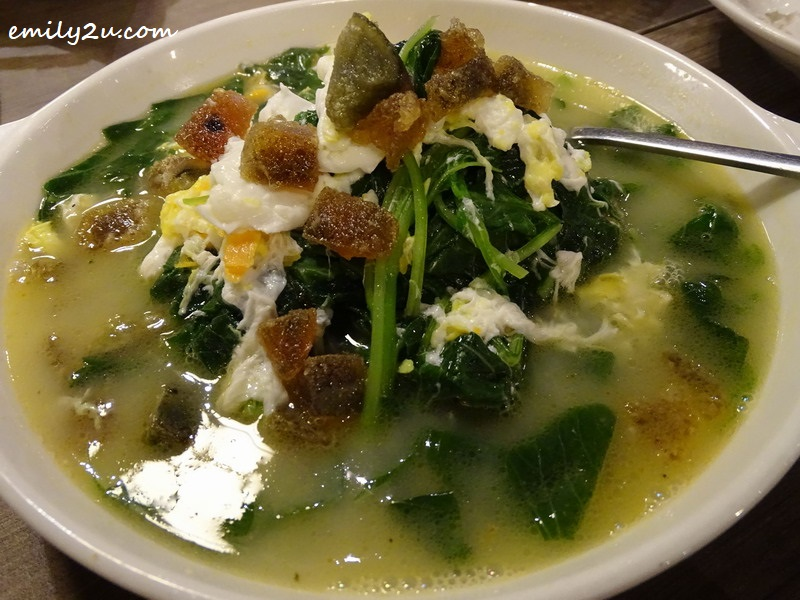 10. Spinach with Superior Broth
