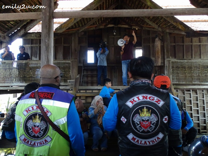 16. a visit to Terrapuri Heritage Village, with owner Mr. Alex sharing his concept to the bikers