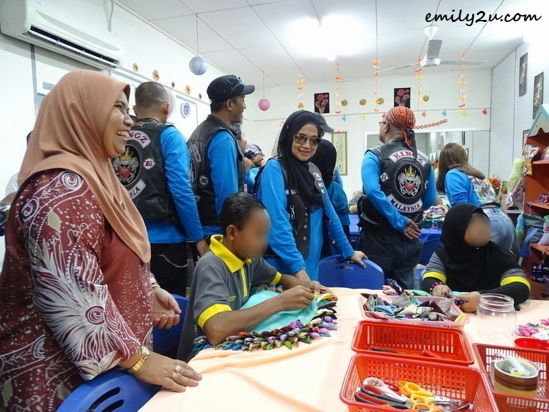 2. sewing class in progress
