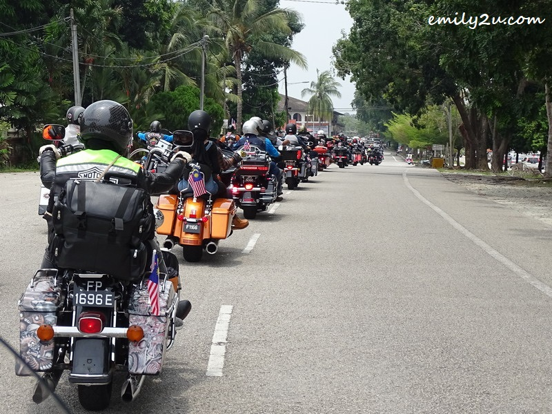 35. part of the 6km convoy of Harley bikes