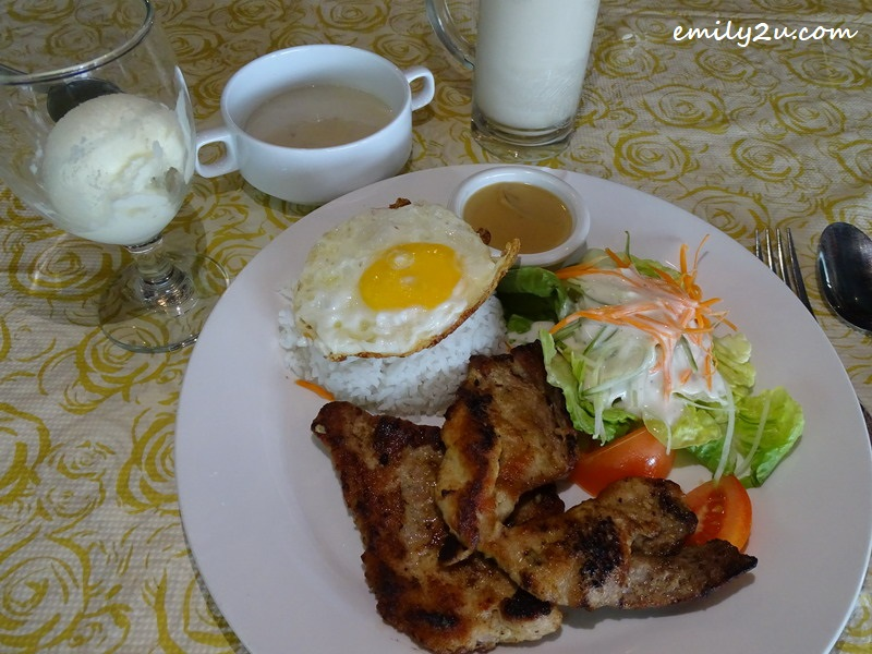 7. Grilled Pork Chop Rice with Egg