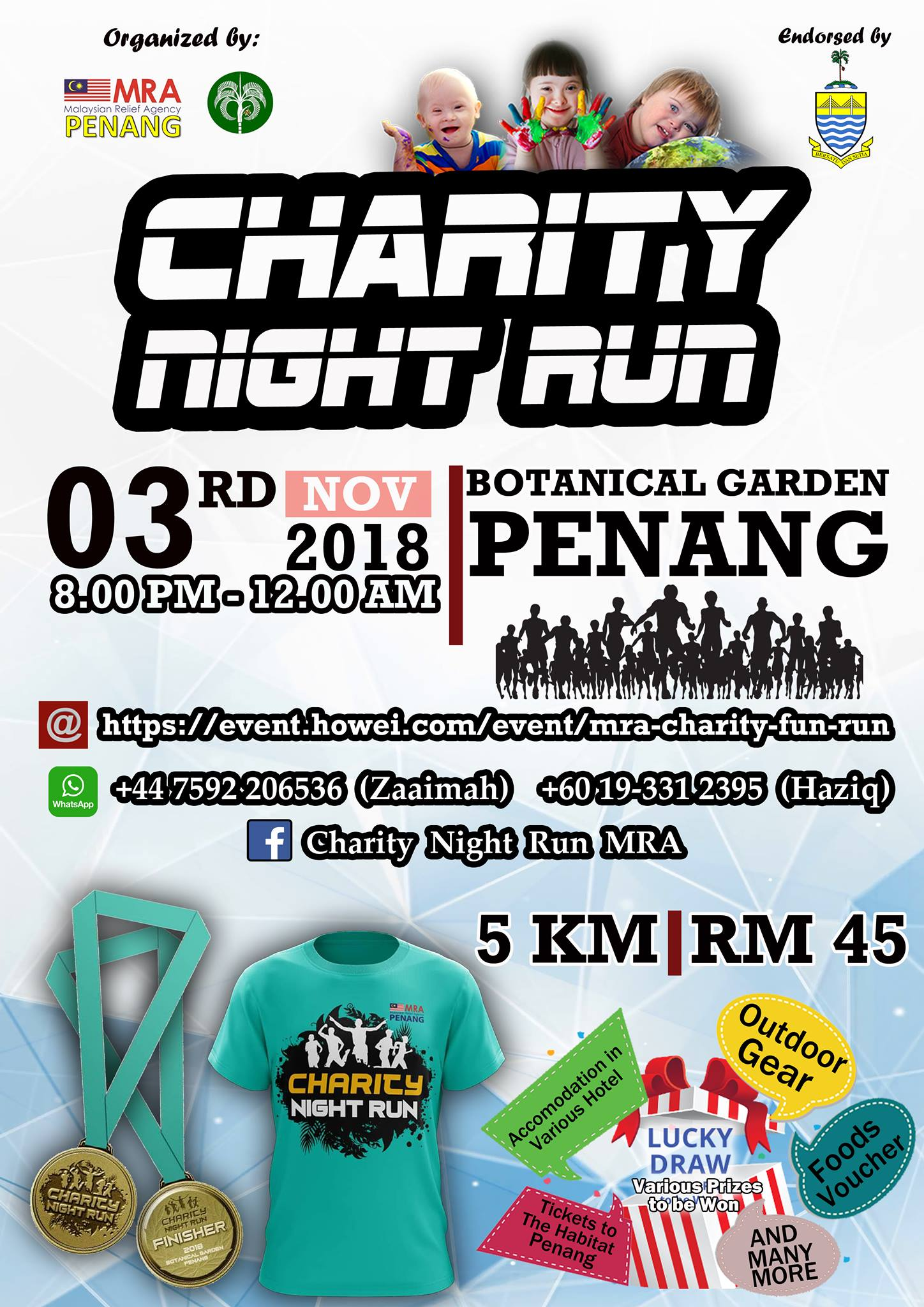 Charity Night Run MRA Penang 2018