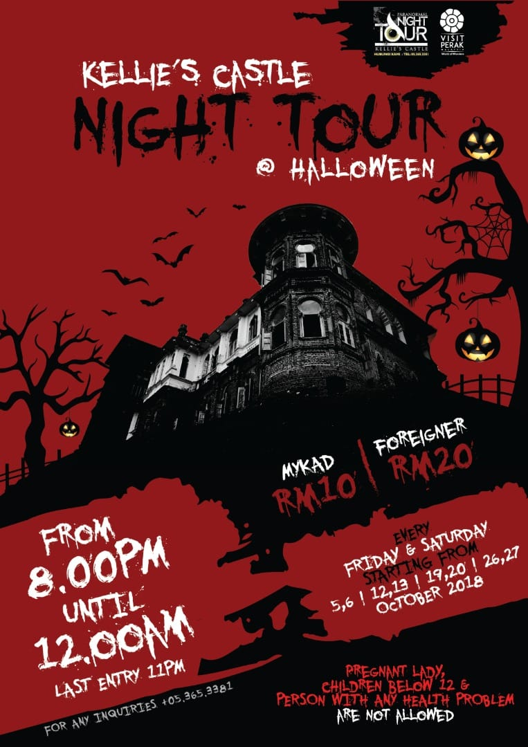 poster: Kellie's Castle Night Tour