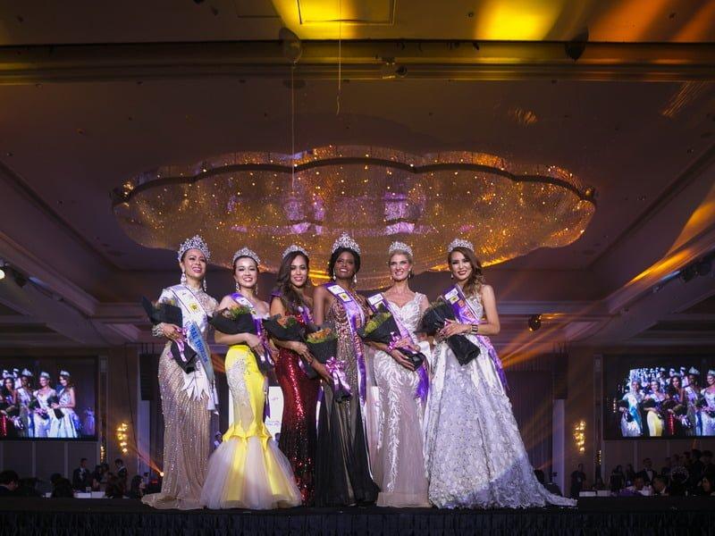 newly crowned Mrs Tourism Queen International 2018 Mrs Brazil Ana De Backer (3rd from R)