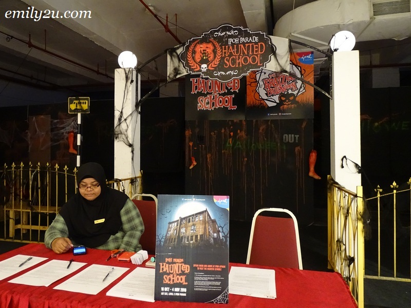 1. entrance to The Haunted School at Ipoh Parade