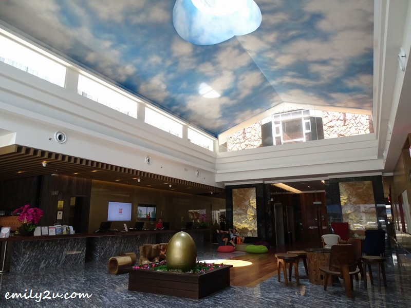2. spacious, high-ceiling lobby