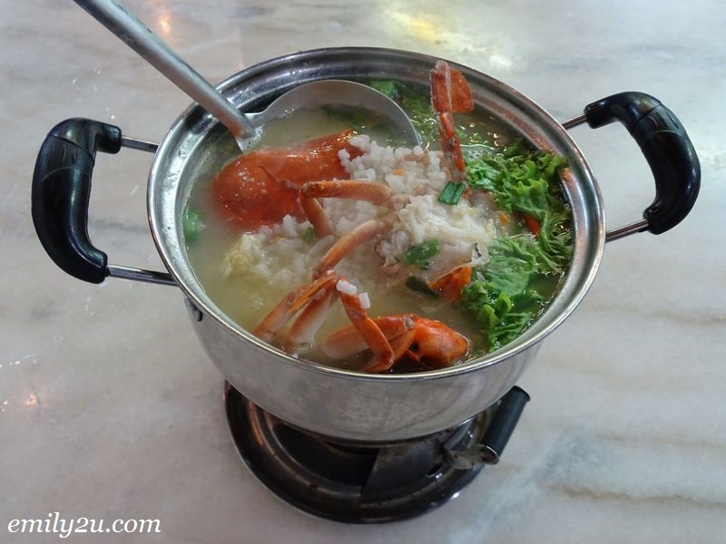 4. Mini Hot Pot Crab Porridge