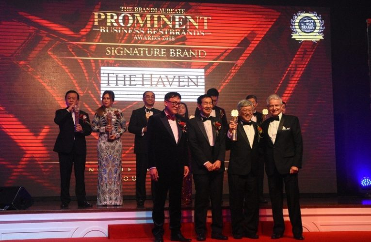The Haven & CEO Receive The BrandLaureate Prominent Business BestBrands Awards 2018
