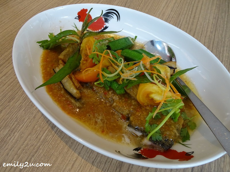 33. steamed fish with Nyonya sauce