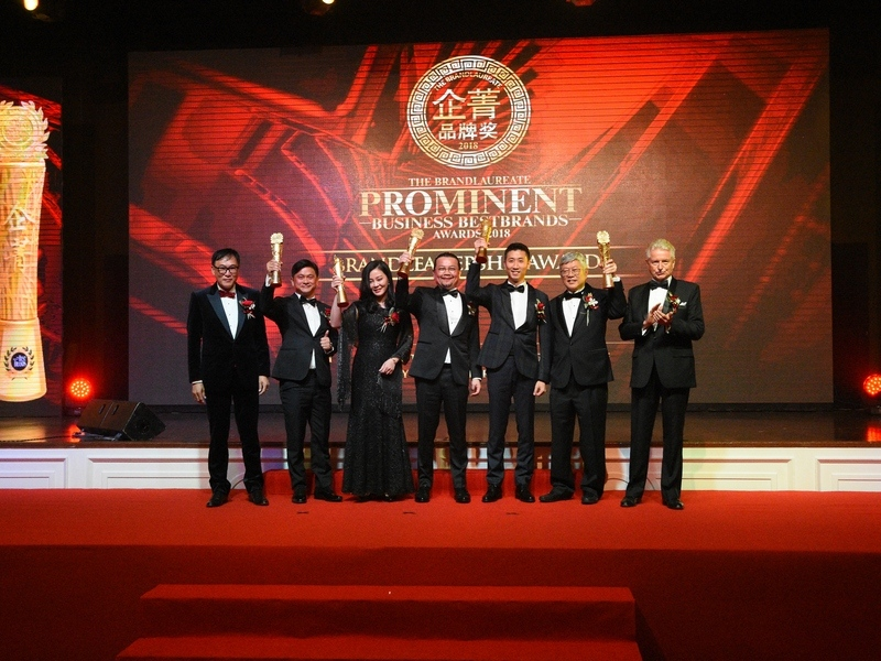 4. The Haven Resort Hotel Ipoh All Suites Chief Executive Officer Mr. Peter Chan (second from R) receives The BrandLaureate Prominent Business BrandLeadership Award