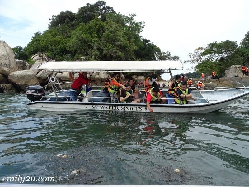 44. feeding fish off Pulau Giam