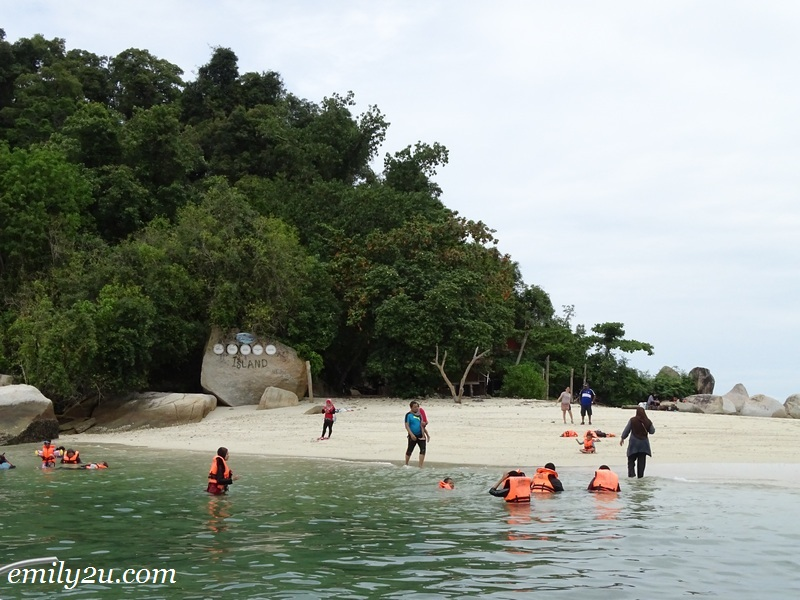 45. swimming and snorkelling are only two activities to indulge in at Pulau Giam