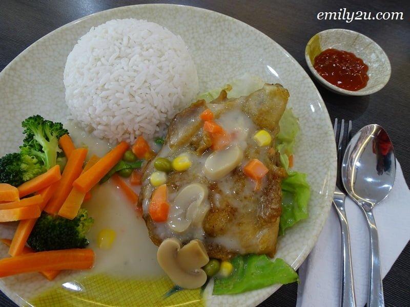 5. Mushroom Chicken Rice