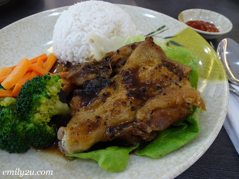 6. Black Pepper Chicken Rice