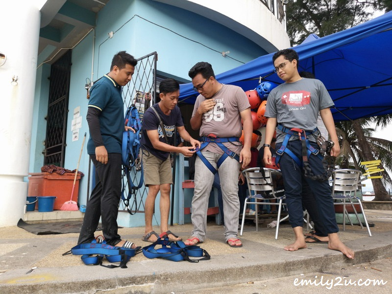 1. Fattah gets strapped up as Mirul looks on
