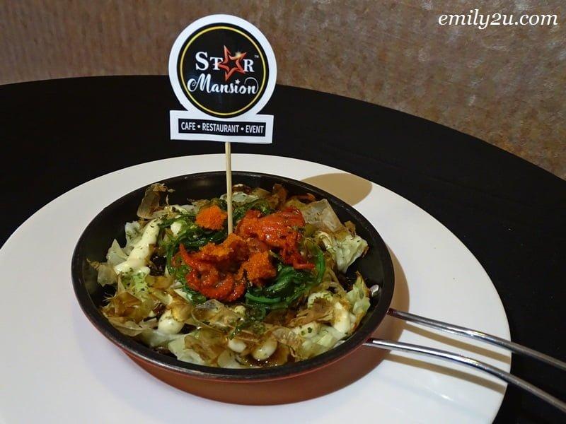 12. Okonomiyaki Chuka Idako with Wakame