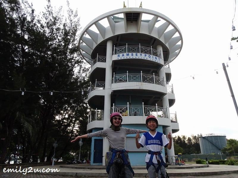 2. Adela (L) and Kenta ready for the zipline