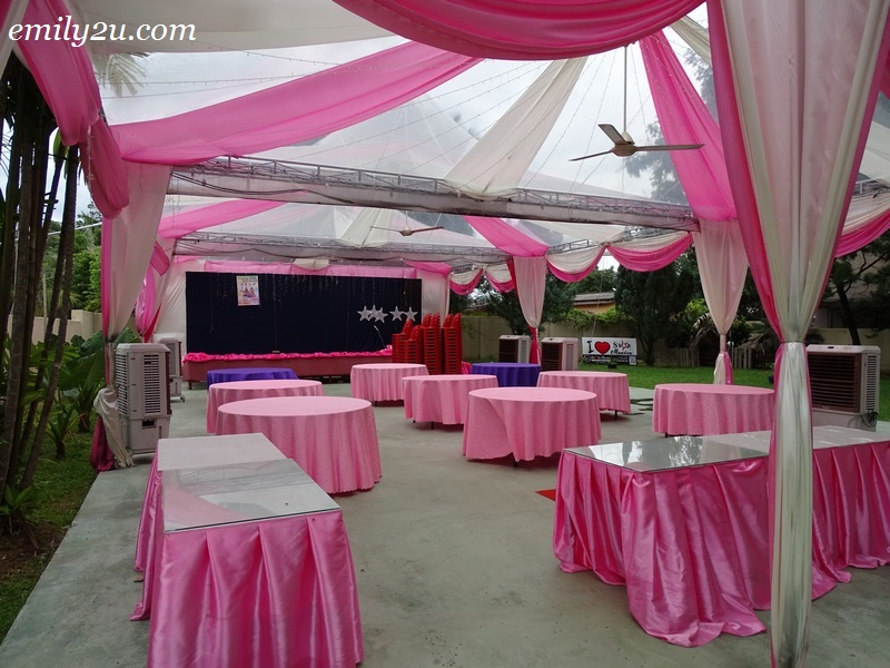 21. setup for private garden function