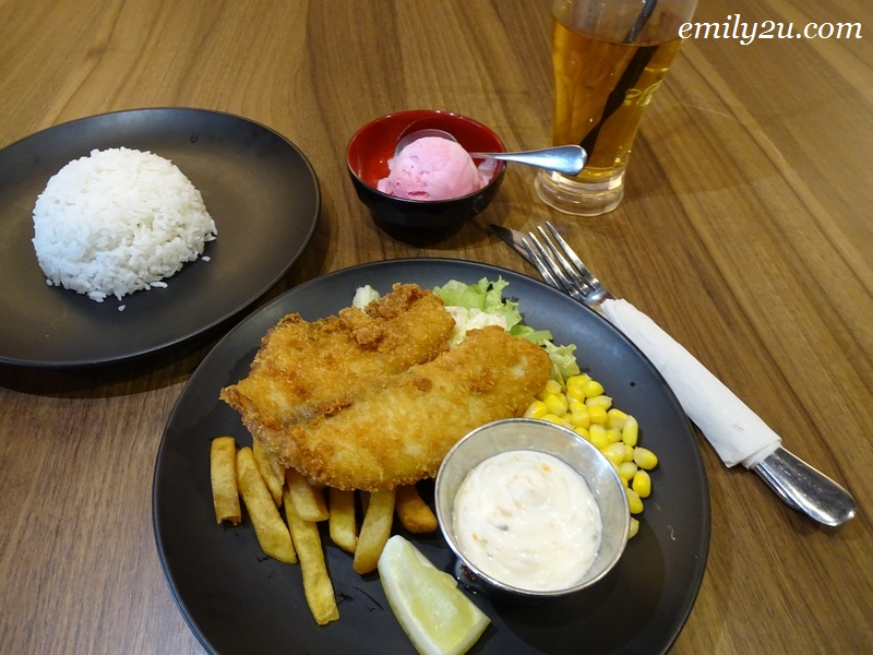 5. Deep Fried Fish & Chips, with added rice