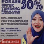 ETS Low Fare - 50% Discount until 31st Dec, 2018