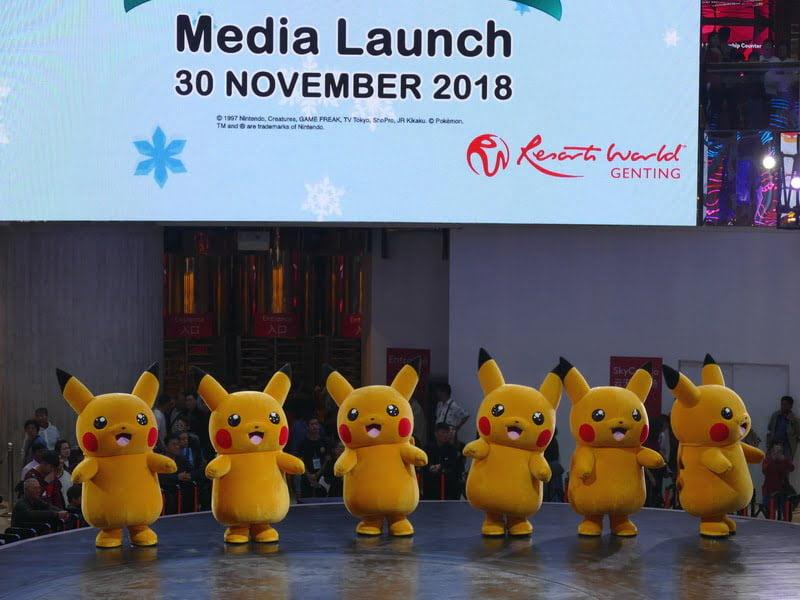 2. life-size Pikachus