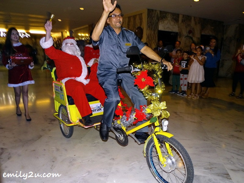 3. Santa Claus arrives on his ride