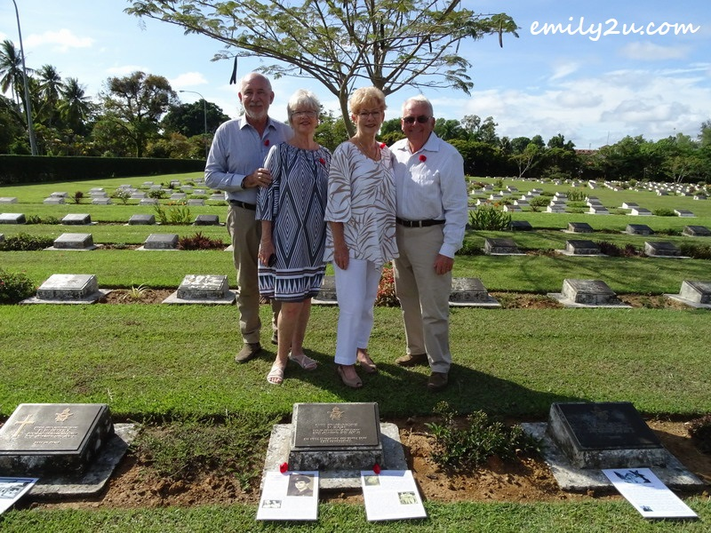 9. L-R: John, Teena, Wendy & Maurice at the final resting place of Wendy's father, L.A.C. Donald Nash