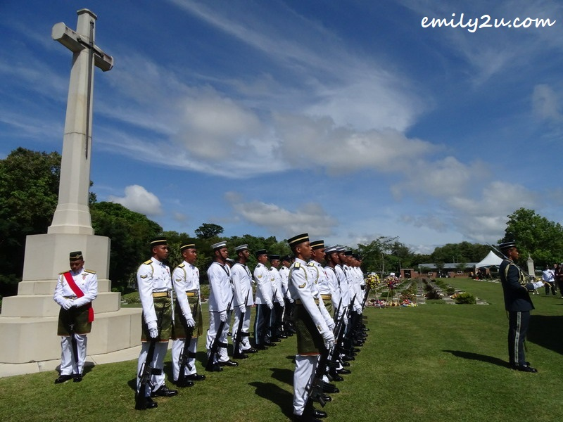 2. Remembrance Day memorial service is conducted in full military tradition