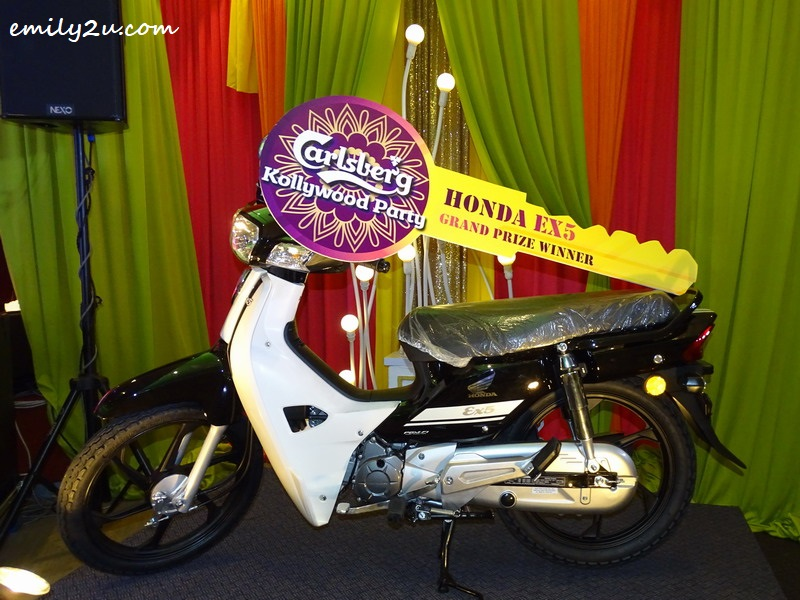 12. the grand prize of a Honda EX5 motorcycle