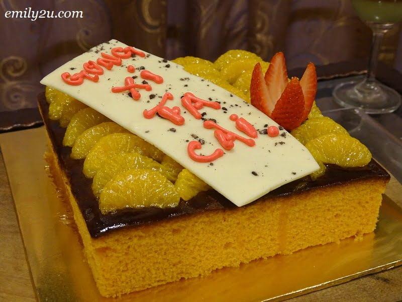 14. Prosperity Mandarin Orange Cake