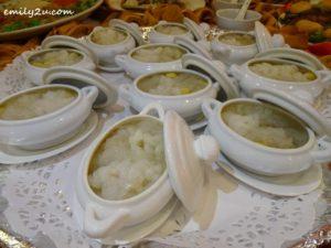 18 Menu B Hot Sweetened Xin Soo, Ginkgo Nut, Snow Fungus & Hasma (individually served)