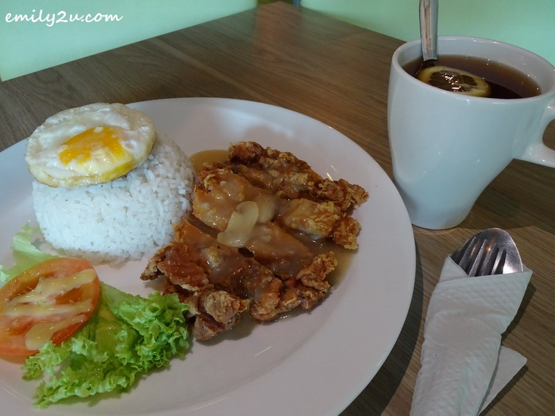 5. Crispy Chicken Chop with Rice