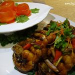 5 Pan Fried Prawns with Soy Sauce