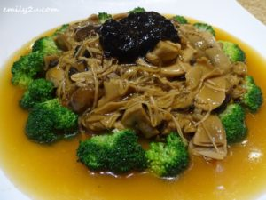 6 Braised Mushroom with Chinese Green & Gingko Nuts