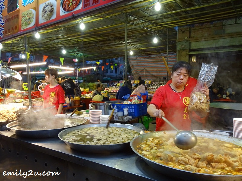 7. huge woks of food