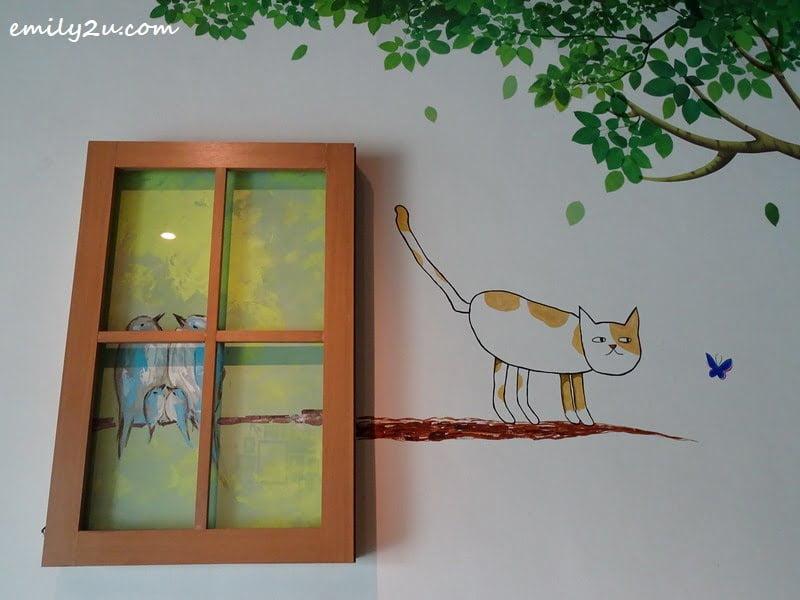 9. cat mural
