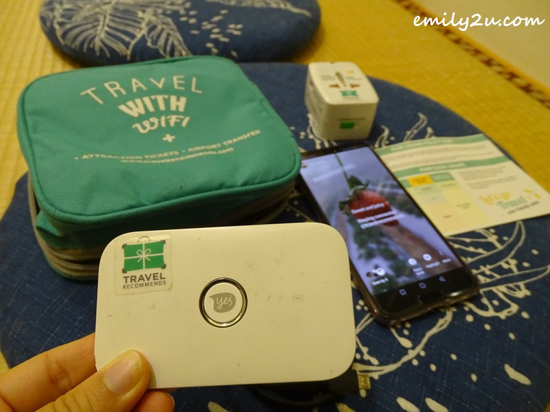 checking out my rented travel WiFi router from Travel Recommends at Zhou Ye Hut Farm in Sanyi Township, Miaoli County