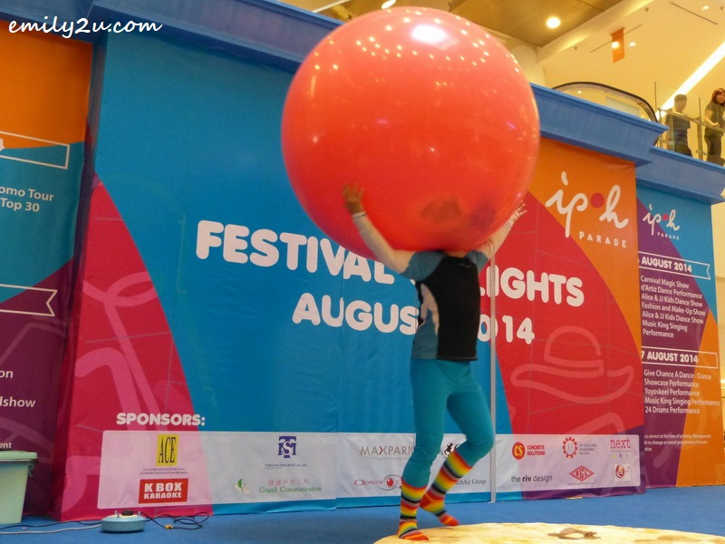 3. Au Young and his signature giant balloon act