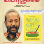 Announcement: Sharpened Word – Dato' Dr. M. Shanmugalingam: Marriage and Mutton Curry (Jan 2019)