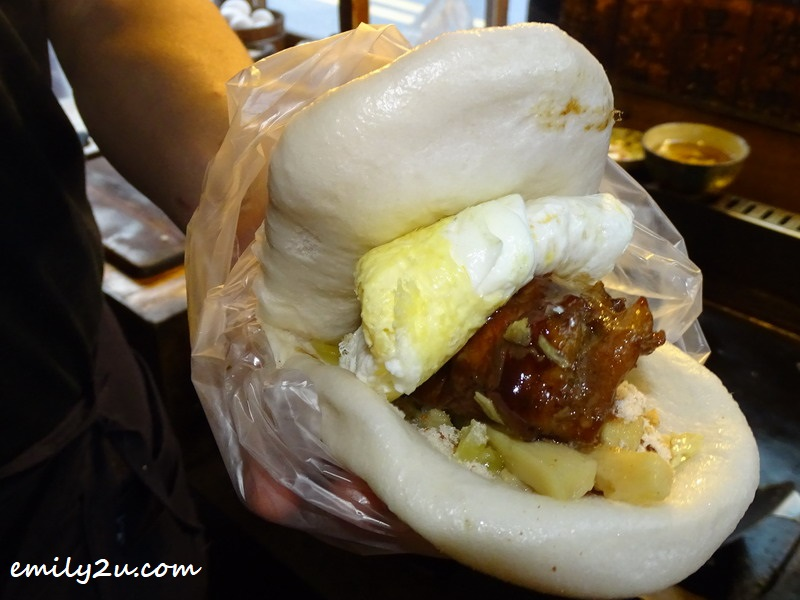 meat mantou from YongLe morning market in Tainan
