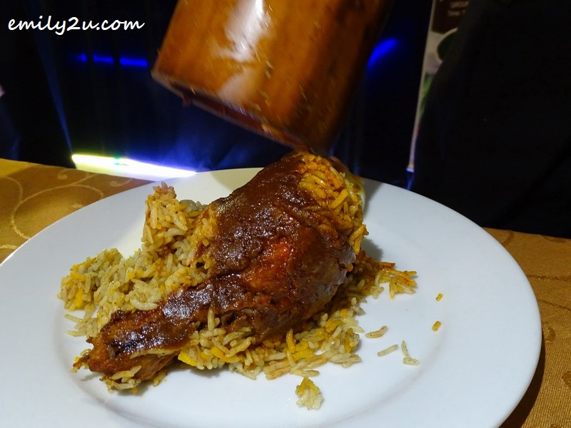 4. close-up of the delicious Bamboo Briyani