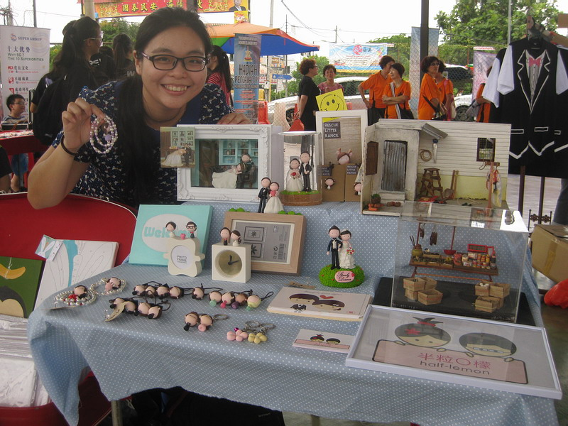 Au Lai Mun with her creations